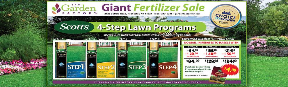 Scotts 4-step Fertilizer program rochester ny